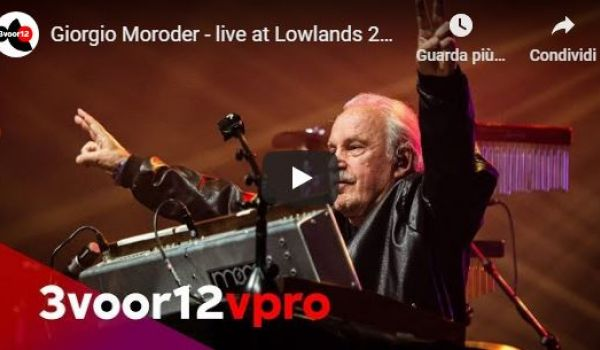 Buon compleanno Giorgio Moroder! (live at Lowlands 2019)